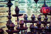 Sale hookah. Turkish shop. Vintage toning. Stylization. — Stock Photo
