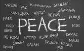 Barış kelime bulutu — Stok fotoğraf