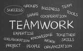 Teamwork word cloud — Stock Photo