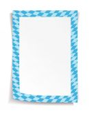Paper board in bavarian colors on white background — ストックベクタ