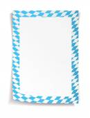 Paper board in bavarian colors on white background — Stock vektor
