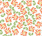 Seamless pattern with hand drawn flower — Stock Vector