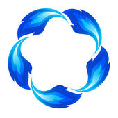 Blue fire icon — Stock Vector