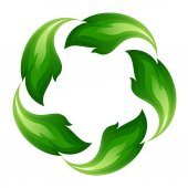 Green fire icon — Stok Vektör