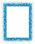 Confetti frame in blue — Stock Vector