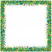 Confetti frame — Stock Vector