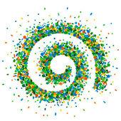 Confetti spirale — Stock Vector