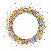 Confetti round frame — Stock Vector