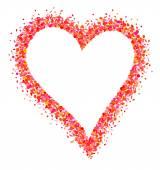 Confetti heart frame  — Vector de stock