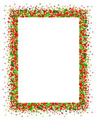 Confetti frame in red and green — Wektor stockowy