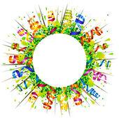 Confetti and serpentine sun — 图库矢量图片