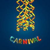 Carnival card with serpentine — Stock Vector