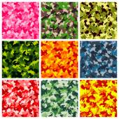 Set of seamless camouflage pattern — Stock Vector