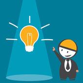 Businessman idea — Stock Vector