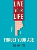 Word Live your life — Vector de stock