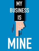 Word MY BUSINESS vector illustration — 图库矢量图片