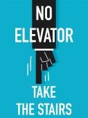 Word NO ELEVATOR — Stock Vector