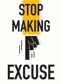 Word STOP MAKING EXCUSE — 图库矢量图片
