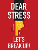 Word DEAR STRESS — Stock Vector