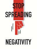 Words STOP SPREADING NEGATIVITY — Stock Vector