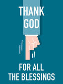 Words THANK GOD FOR ALL THE BLESSINGS — Stock Vector