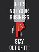 それがあなたのビジネスではない場合の言葉に出さない — ストックベクタ