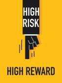 Words HIGH RISK HIGH REWARD — Stock Vector