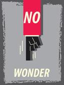 Words NO WONDER — Stock Vector