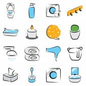 Bathroom  vector set — Stockvektor
