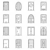 Doors icons set — Stock Vector