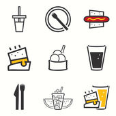 Street Food icons set — Stock Vector