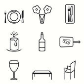 Gathering icons set — Stock Vector