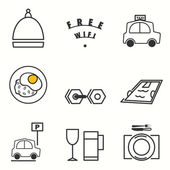 Hotel service icons set — Stock Vector