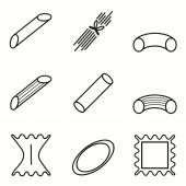 Pasta icons set — Stock Vector