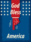 God Bless America — Stock Vector