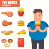Fat Foods infographics — Stock Vector