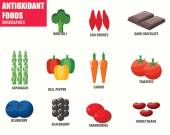 Antioxidant Foods infographics — Stock Vector