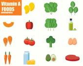 Vitamin A infographics — Stock Vector