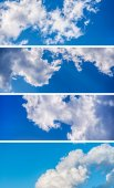 White clouds in the sky. — Stock Photo