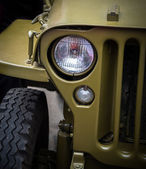 Headlight on a old military vehicle. — Stock Photo