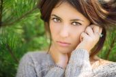 Beautiful brunette portrait. — Stock Photo