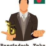 Постер, плакат: Bangladesh national currency Bangladeshi taka symbol representin