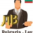 Постер, плакат: Bulgaria national currency Bulgarian lev symbol representing mon