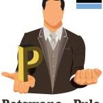 Botswana national currency Botswana pula symbol representing mon — Stock Vector #52926525