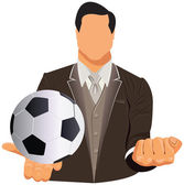 Vector design concept of businessman or football manager — Stockvector