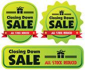 Closing down sale label or badge — Stok Vektör