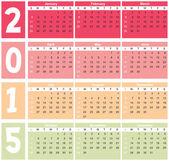 Calender 2015 in vector — Vector de stock