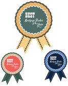 Векторная этикетка объявления лучшей сервисной премии агента ипотечного брокера года. — Cтоковый вектор