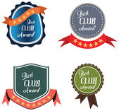 Vector promo label of best of year award for club. — Stock Vector