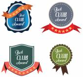 Vector promo label of best of year award for club. — Cтоковый вектор